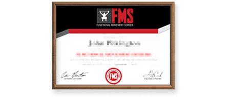 Сертификат FMS